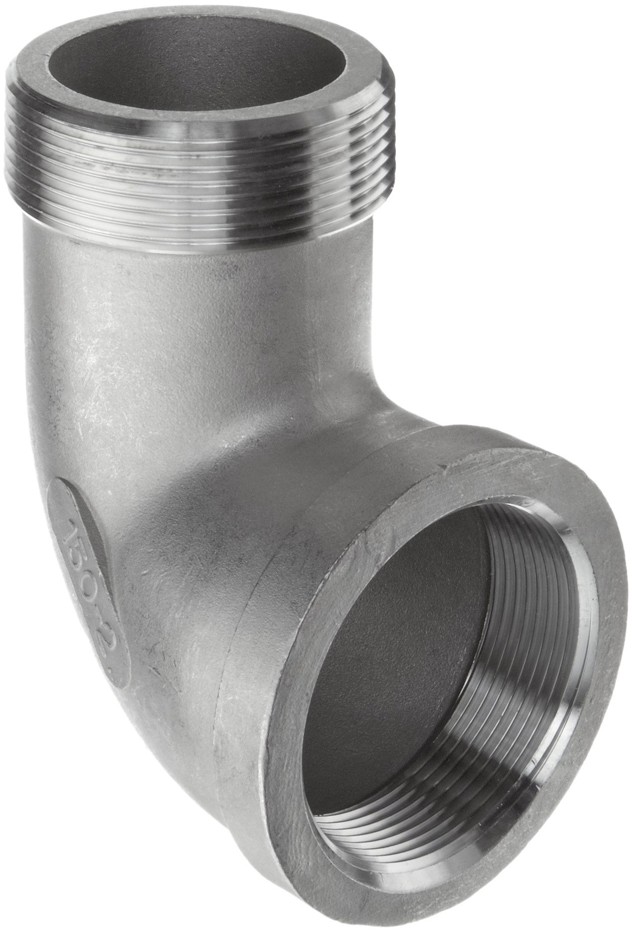 Merit Brass Stainless Steel 316 Cast Pipe Fitting, 90 Degree Street Elbow, MSS SP-114, 1/2'' National Pipe Taper Thread Male (Pack of 25)