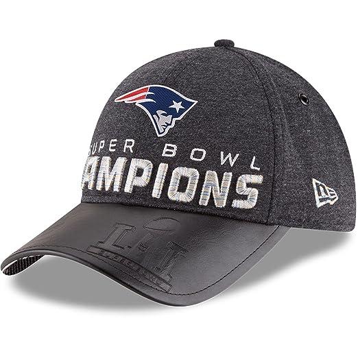 905166ac New England Patriots New Era Super Bowl LI Champions Trophy Collection  Locker Room 9FORTY Adjustable Hat Heathered Black