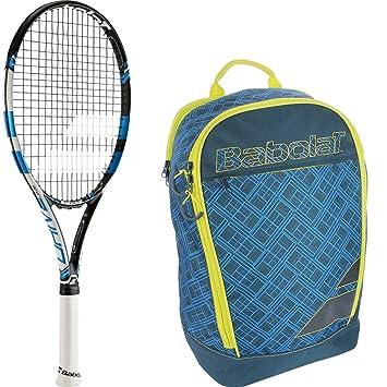 Babolat Pure Drive Junior Raqueta de tenis con un paquete de un club de tenis mochila, Blue/Yellow Backpack: Amazon.es: Deportes y aire libre