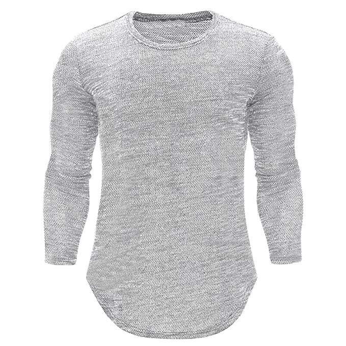 Camisa de Manga Larga Delgada Ocasional del Cuello del O de los Hombres de la Personalidad