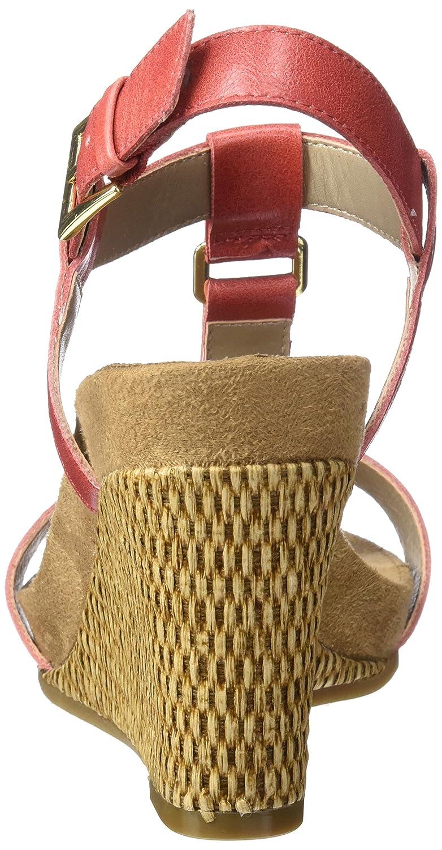 Aerosoles A2 by Women's Plush Nite Wedge Sandal B01N3L9SAW 9.5 W US|Coral