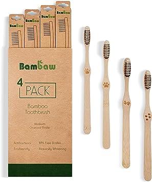 Cepillo de dientes de bambú | Cerdas medium| Cepillo de dientes ...