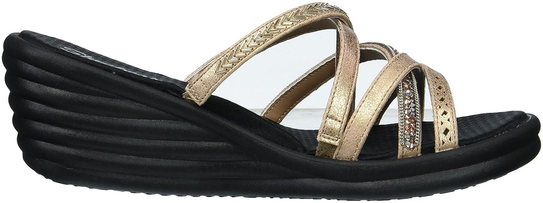 Skechers Cali Women's Rumbler Wave-New Lassie Slide Sandal B0755X1535 6.5 M US|Rose Gold