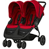 Britax B-AGILE DOUBLE Double Pushchair - Flame Red