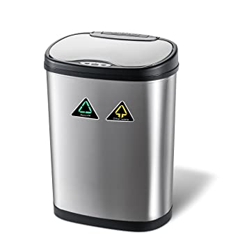 Home Decorations Sensor Mulleimer 42 Liter 100 Edelstahl Automatik