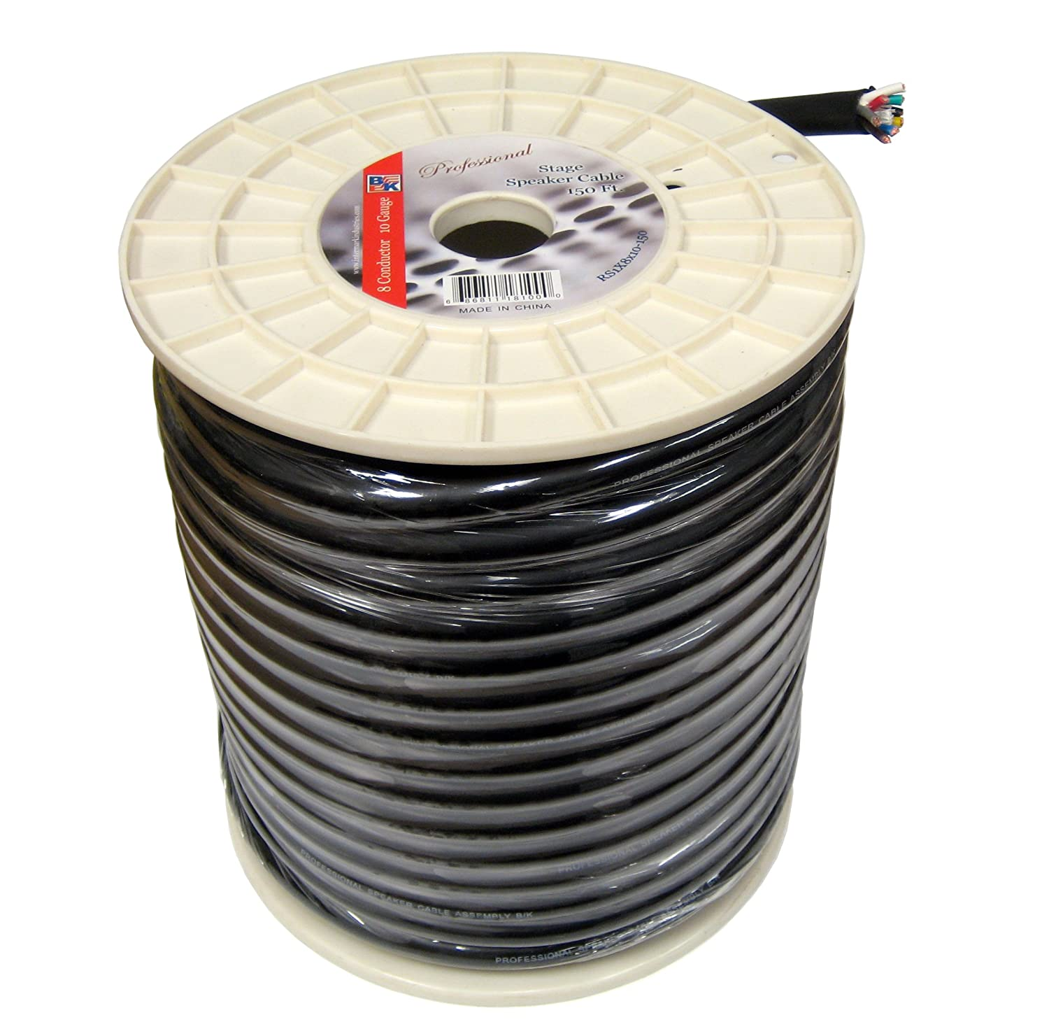 Blast King IRS1X8X10 150-Feet 10 AWG 8 Conductors Stage Speaker Cables IRS1X8X10-150