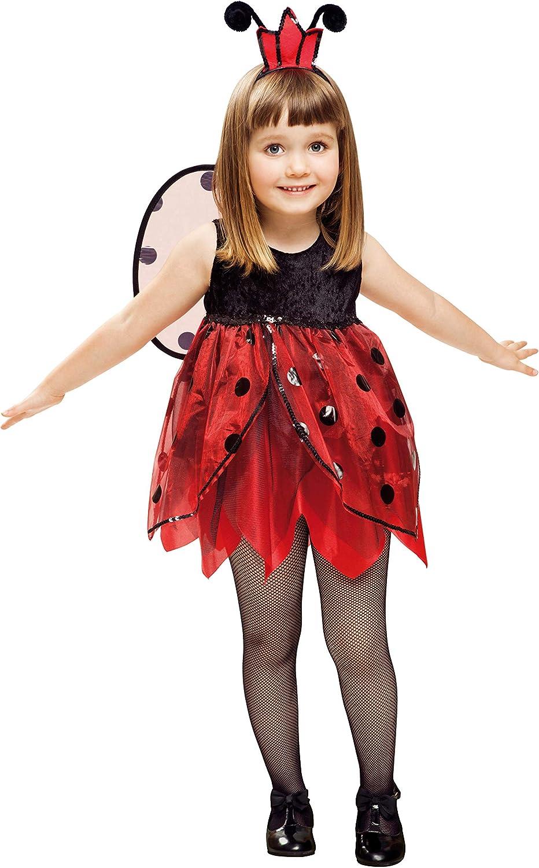 My Other Me Me-201313 Insectos Disfraz de mariquita hada para niña, 3-4 años (Viving Costumes 201313)