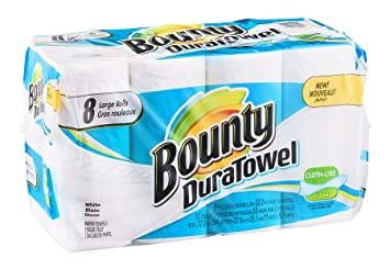 Bounty DuraTowel Paper Towels White 8 ROL (Pack of 4)