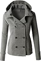 Amazon.com: RubyK Womens Classic Double Breasted Pea Coat Jacket