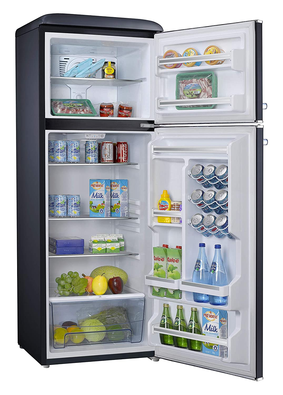 Refrigerators 12.0 Cu Ft Refrigerator Top Mounted Retro Look ...