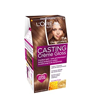 loral paris casting crme gloss coloration ton sur ton sans ammoniaque 714 chocolat lollipop - Quelle Coloration Sans Ammoniaque Choisir