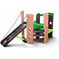 Little Tikes 2-in-1 Castle Climber, Brown