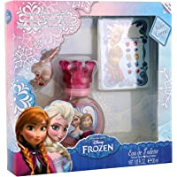 Disney Reine des Neiges - Frozen Coffret Eau de Toilette pour enfant 30 ml + Bracelet + Boucles d'Oreilles Autocollantes