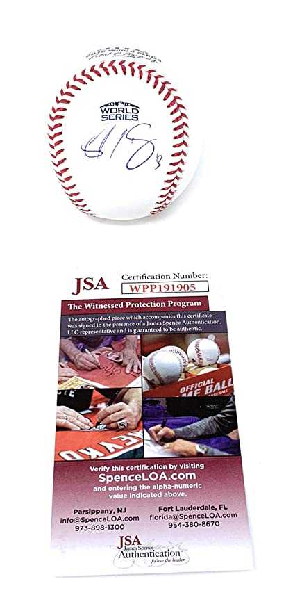 cf455cdf1a4 Sandy Leon Boston Red Sox Signed Autograph Official WORLD SERIES MLB  Baseball JSA Witnessed Certified