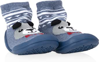 Nuby Snekz Comfortable Rubber Sole Sock Shoes for First Steps