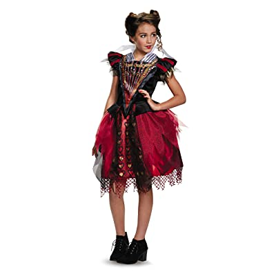 Disguise Red Queen Tween Alice Through The Looking Glass Movie Disney Costume, Large/10-12: Toys & Games