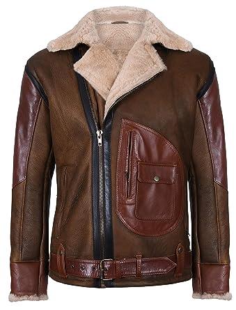 buy online a5bc2 6b7bf Infinity Leather Herren Überqueren B3 Braun Schaffell ...