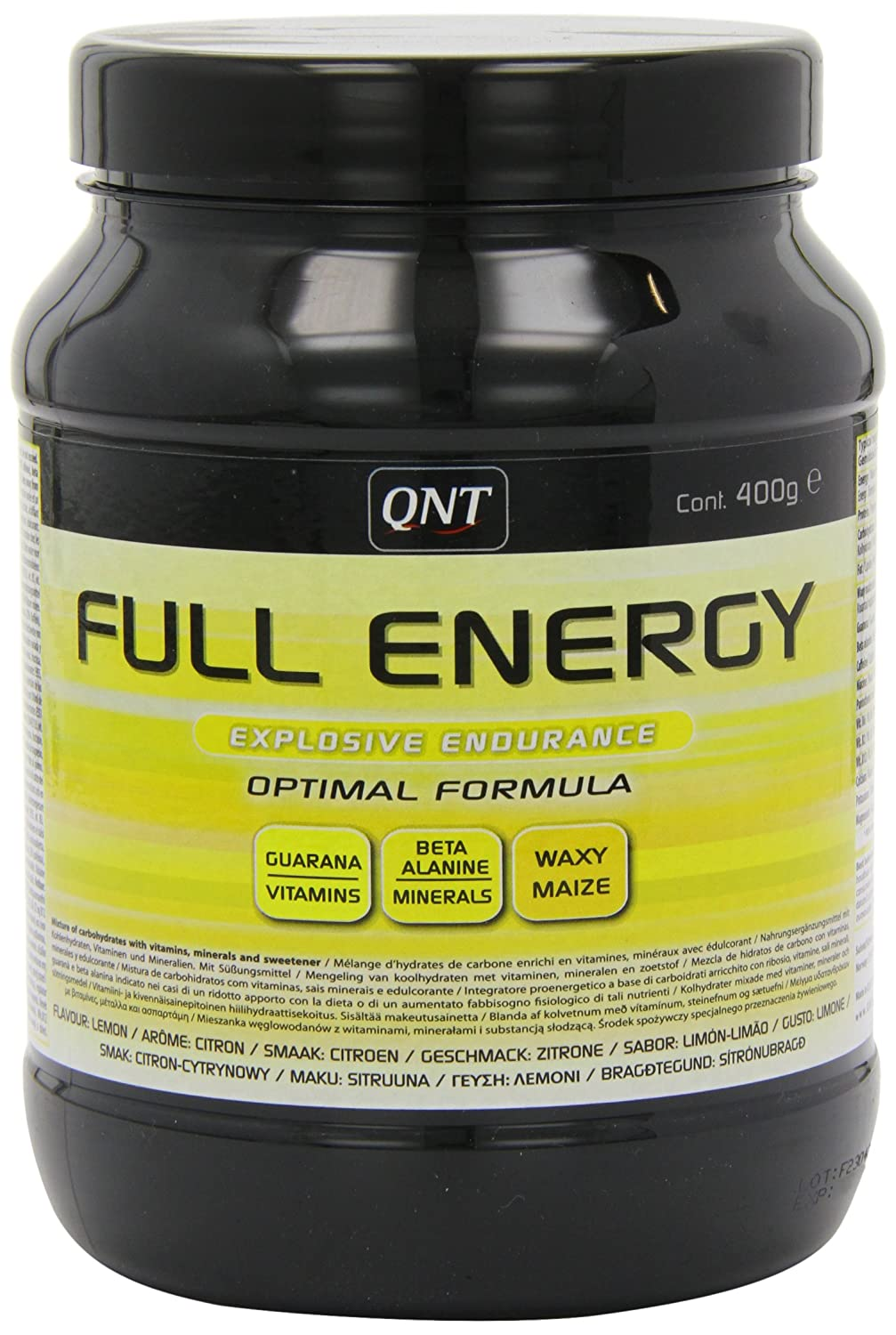 Amazon.com: QNT Full Energy 400 g Lemon Energy, Performance and Endurance Drink Powder: Health & Personal Care