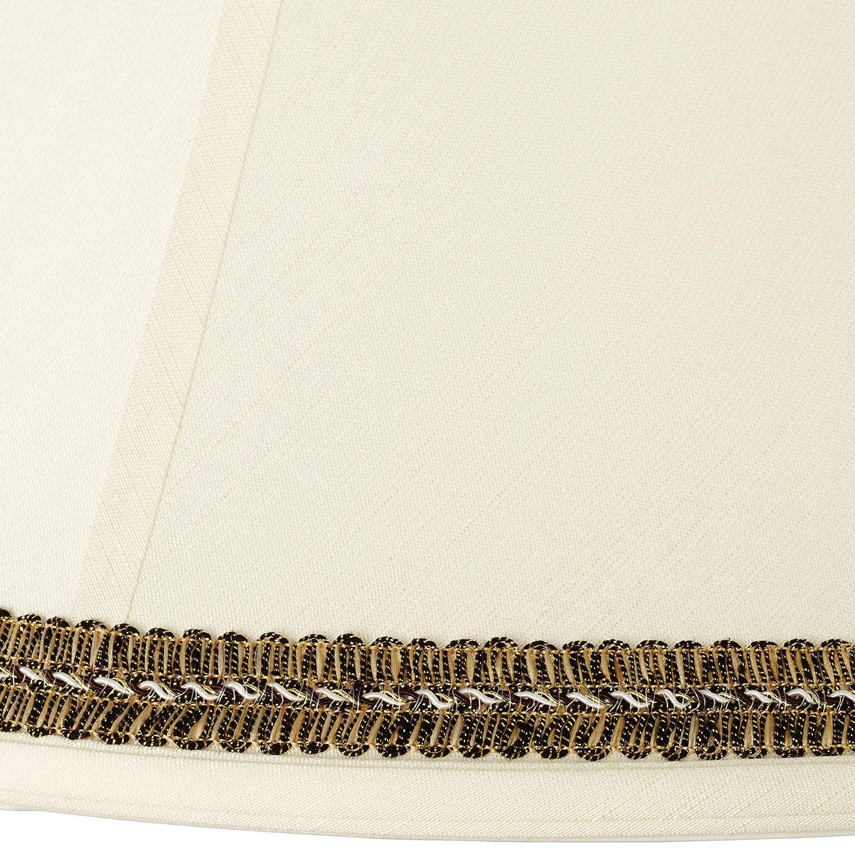 Amazon.com: Pantalla crema con borde negro y dorado de 7 x ...