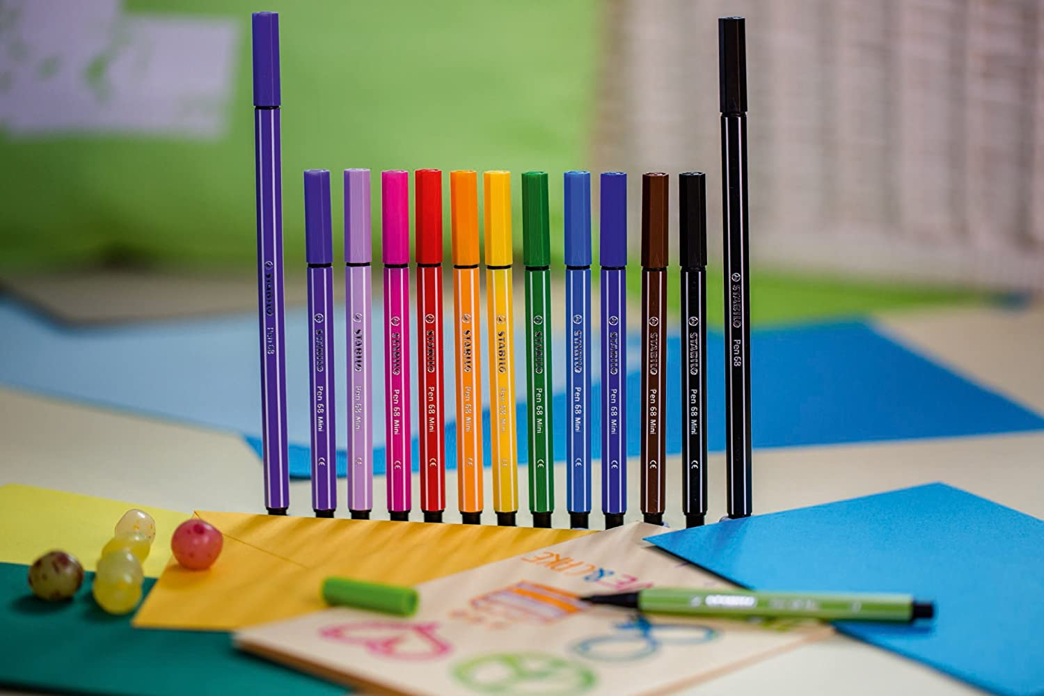 Amazon.com : STABILO Pen 68 Mini Sweet Colors Felt-Tip Pens ...