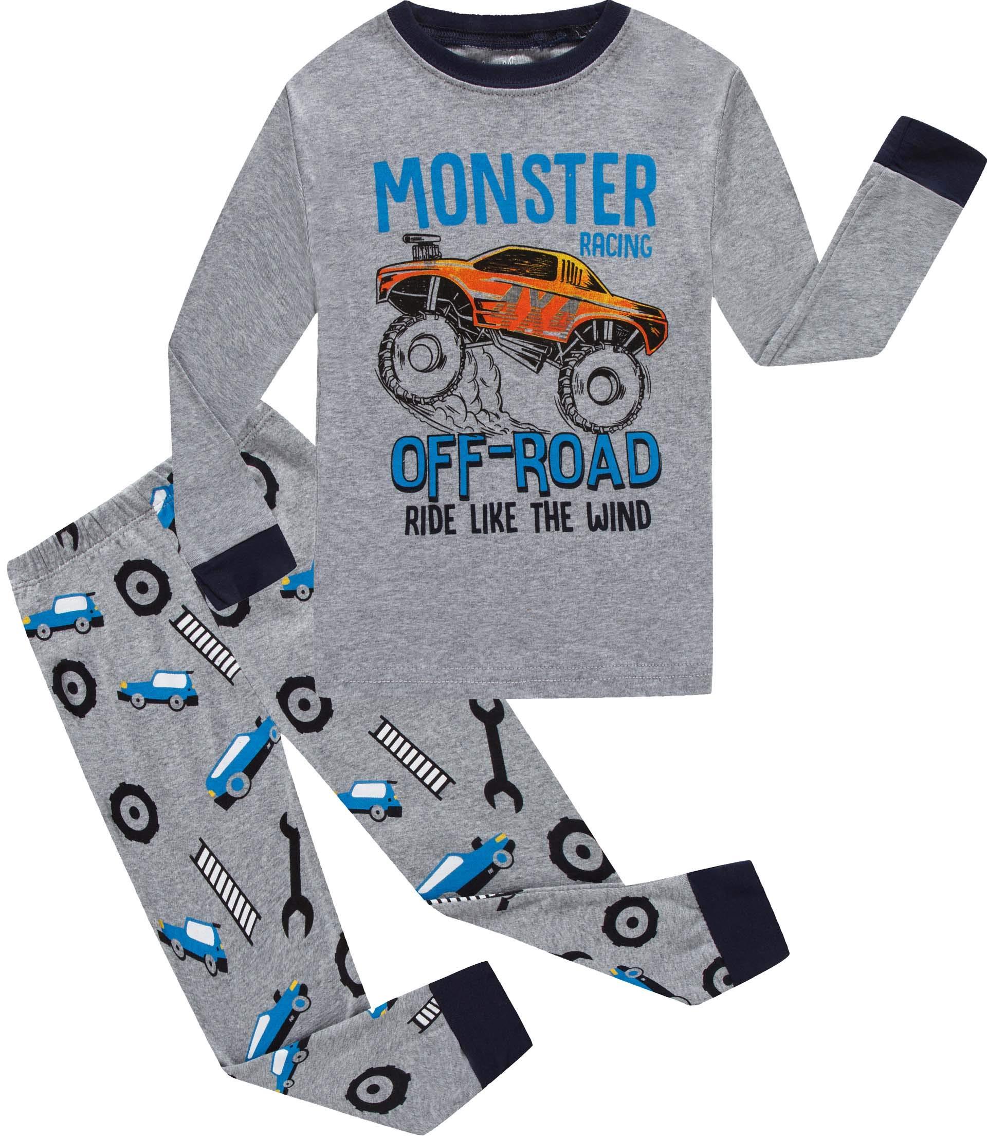 555750560cc2 Galleon - Little Big Boys Pajamas Christmas Monster Car Cotton Gift ...