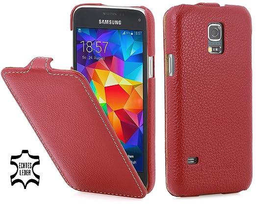 14 opinioni per StilGut UltraSlim Case, custodia in vera pelle per Samsung Galaxy S5 mini, rosso