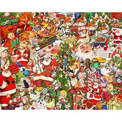 Vintage Christmas Jigsaw Puzzle 1000 Piece: Toys & Games