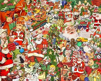 vintage christmas jigsaw puzzle 1000 piece