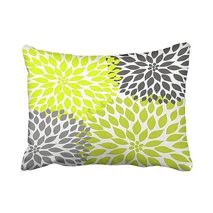 Amazon Tarolo Decorative Chartreuse Green And Gray Dahlia Custom Chartreuse Pillows Decorative