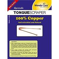 Wonder Care - 100% cuivre grattoir langue / nettoyant ayurvédique antibactérien pour l'hygiène orale optimale (3 pièces)