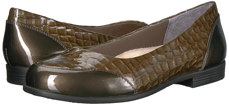 Trotters Women's Arnello Ballet Flat B01NCNTOGX 6 W US|Grey Crocodile
