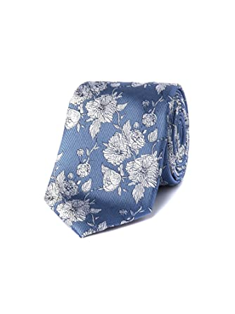 ac3bea9db3f4 Stvdio By Jeff Banks Blue Floral Tie - 0046562 Tie Blue, 0: Amazon.co.uk:  Clothing