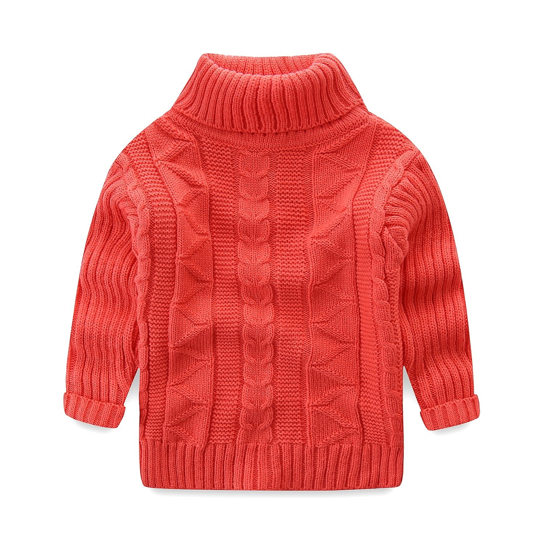 Mud Kingdom Toddler Boys Girls Turtleneck Pullover Base Tops Sweater 4T Pink