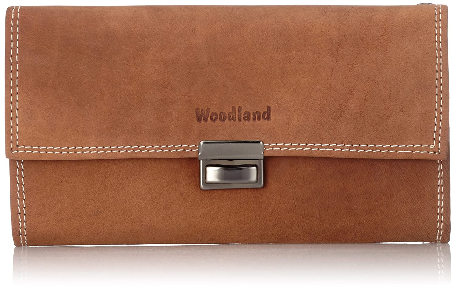 """Woodland"" waiter-wallet with reinforced bottom in large coin case, made from natural, soft buffalo leather in Cognac LM-International Europa GmbH 5542904"
