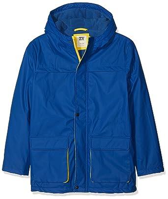 Zippy Parka Impermeable, Abrigo para Niños, Azul (Blue Quartz 19-3964 tcx