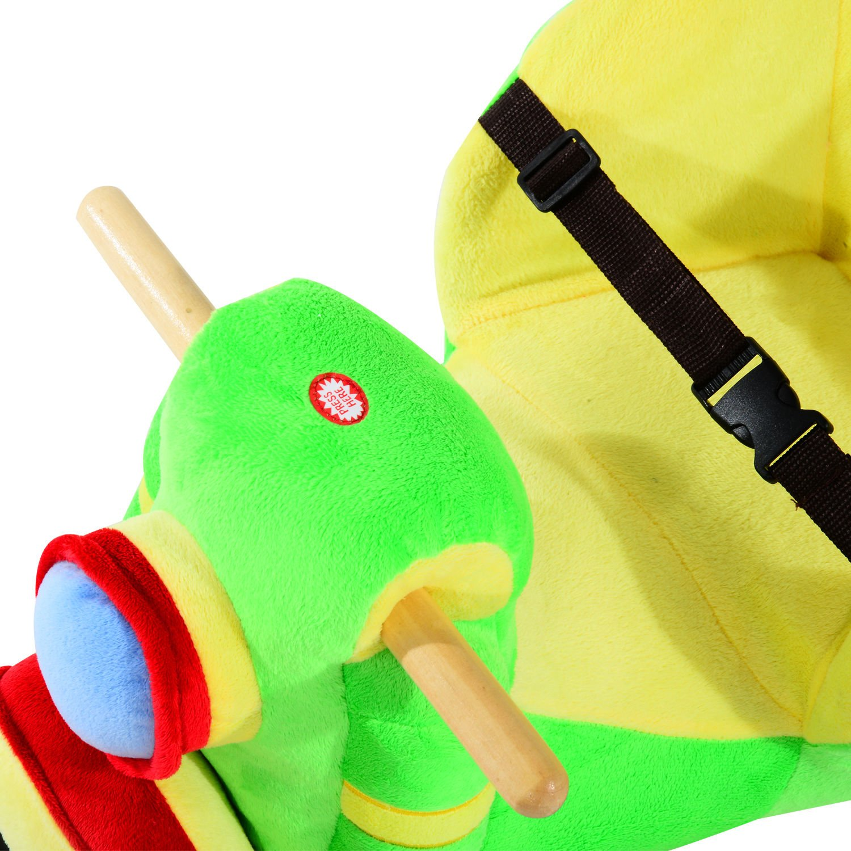Weihnachtsgeschenke Schaukelb/är mit Lied HOMCOM Schaukelpferd Kinder Schaukeltier Pl/üsch Schaukel Pferd Baby Schaukelspielzeug Geschenk f/ür Kinder