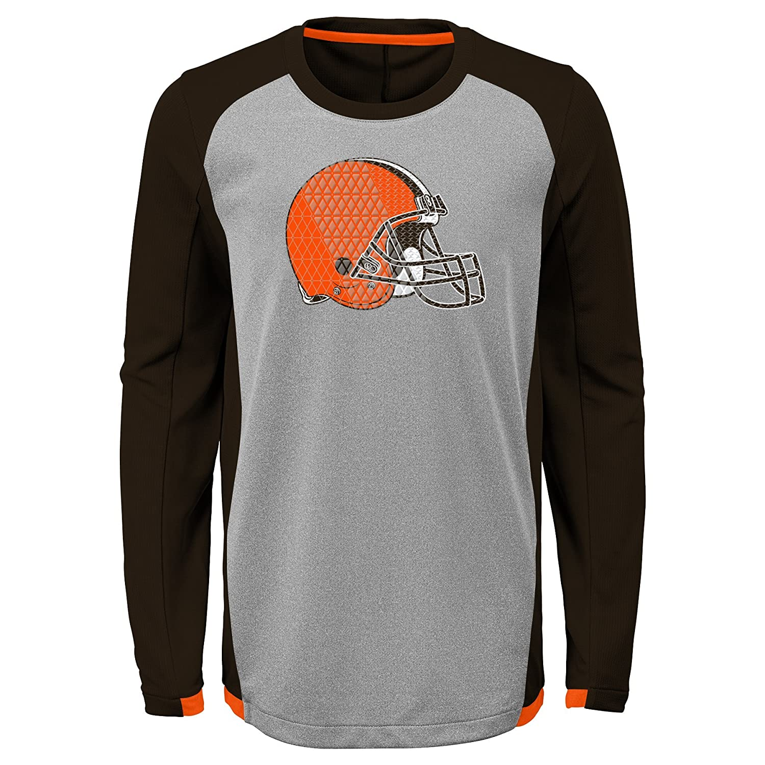 10-12 Outerstuff NFL Cleveland Browns Kids /& Youth Boys Mainframe Performance Tee Brown Suede Youth Medium