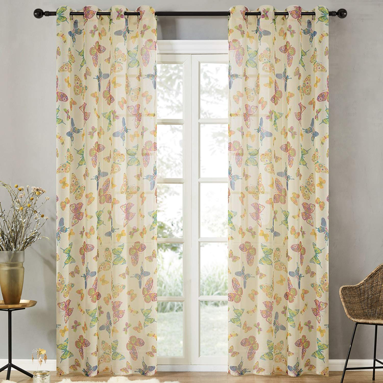 Interesante cortina elaborada en gasa de poliéster. Multiples tamaños y diseños.