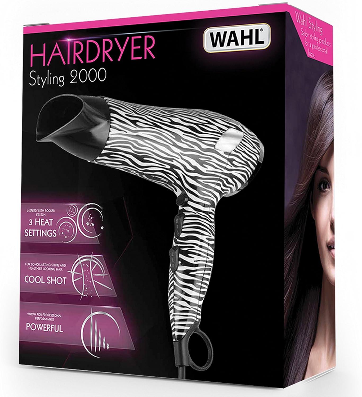 Wahl 2000 Zebra Hairdryer: Amazon.co.uk