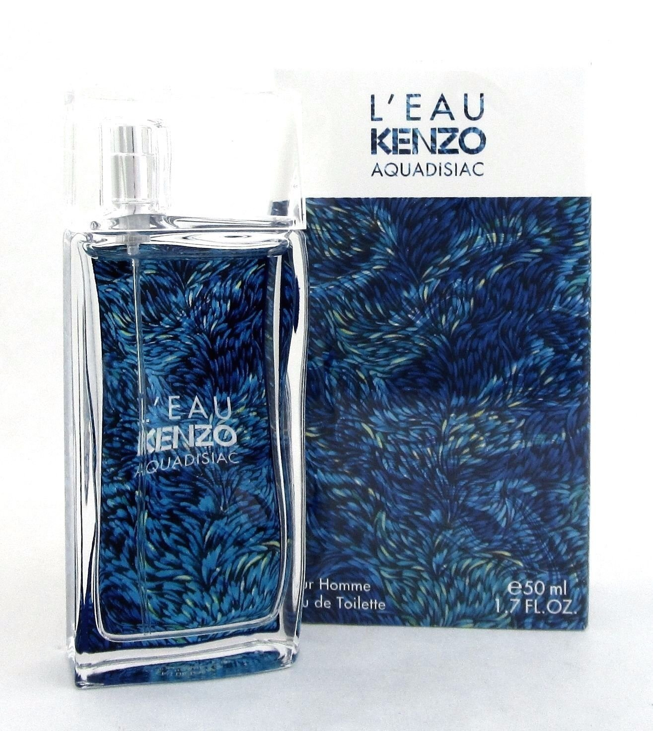 L'Eau Kenzo AQUADISIAC by Kenzo Eau de Toilette Spray for Men 1.7 FL. OZ./50 ML