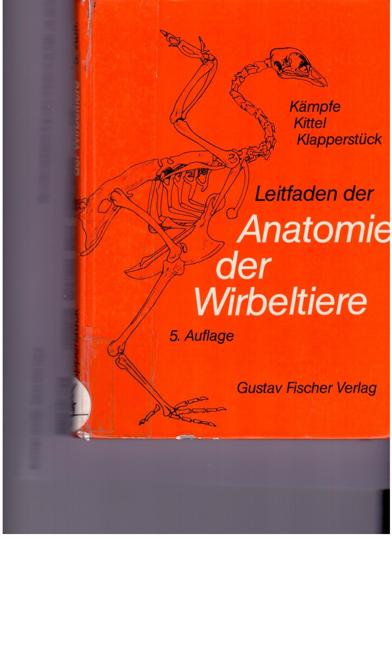 Leitfaden der Anatomie der Wirbeltiere: Amazon.de: Lothar Kämpfe ...