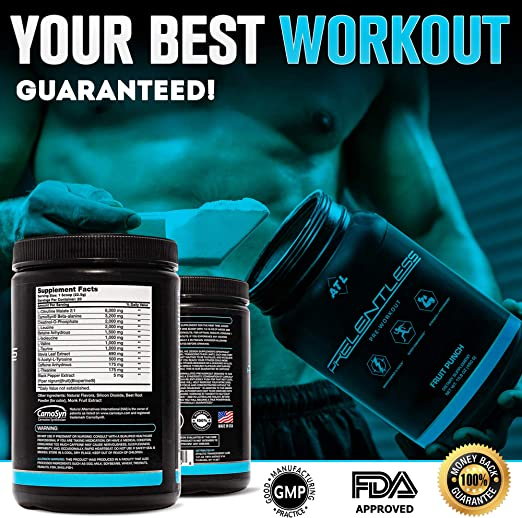 Hi Tec Nutrition Pre-Workout Powder NO BOOSTER AMG 875g +50caps