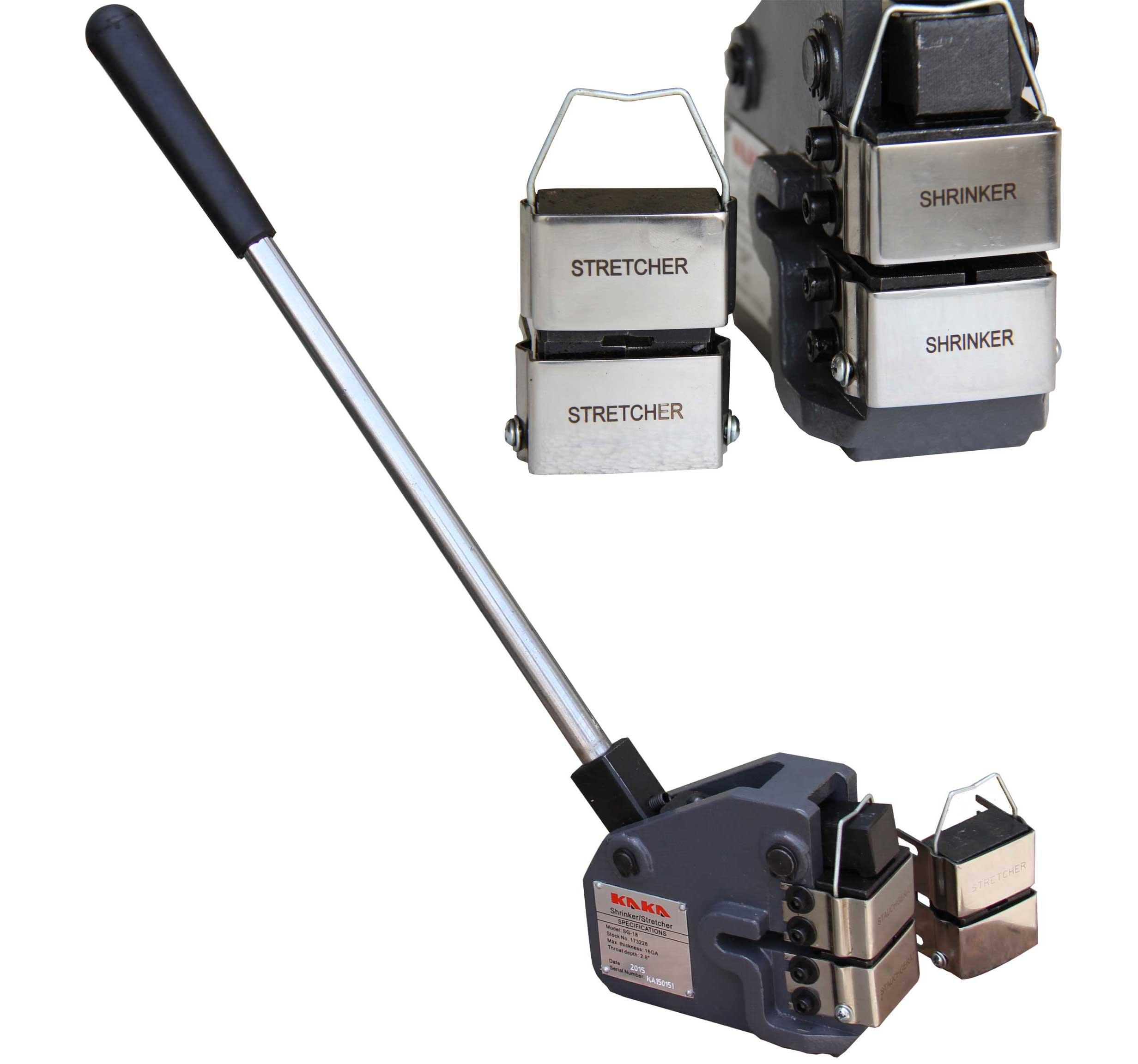 KAKA Industrial SG-18 Metal Shrinker Stretcher, 16-Gauge Mild Steel Metal Stretcher, Cast Iron Shrinker Stretcher