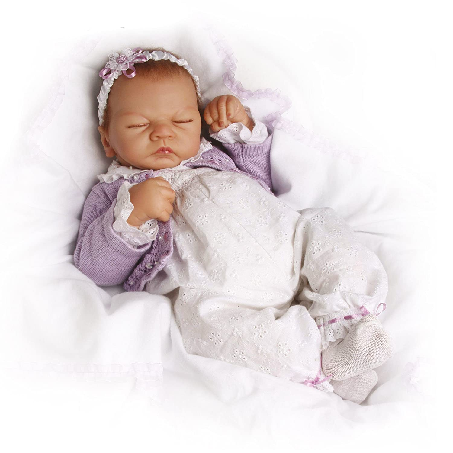 Ashton Drake 'Sweet Dreams Emily' - Lifelike Baby Doll by Linda Webb - With Simulated Breathing and RealTouch Vinyl Skin