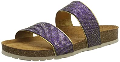 100040dof - Sandalias de Punta Descubierta Mujer, Color Morado, Talla 39 Gabor