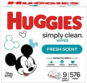 2-Count Huggies 576 Count Simply Clean Fresh Scented Baby Wipes Soft Pack