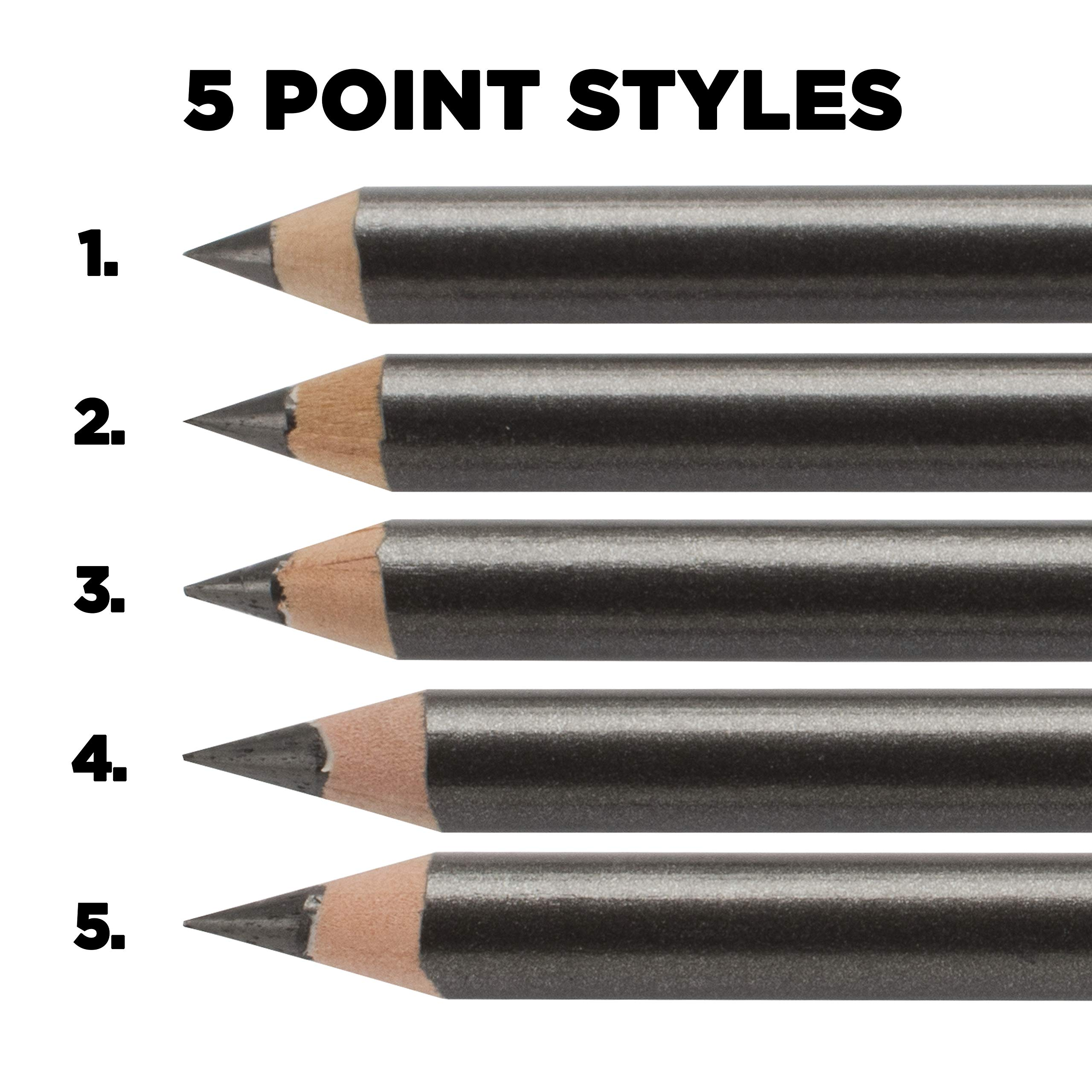 Prismacolor Colored Pencils Art Kit - Artist Premier Wooden Soft Core Pencils 150 ct. With Acurit Dial-a-Point Pencil Sharpener [151 pc. Set] by Prisamcolor (Image #4)
