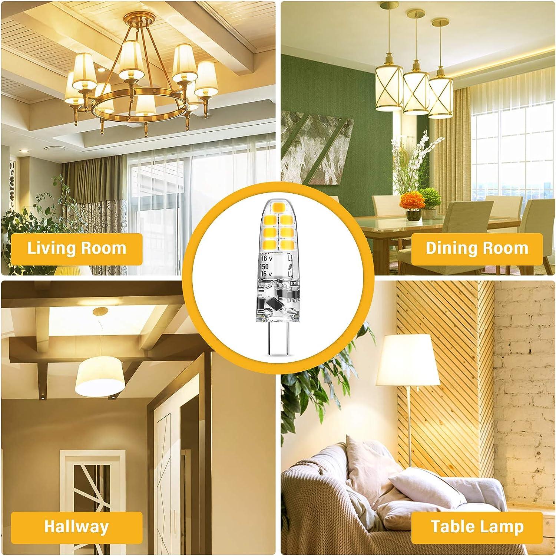 AMBOTHER G4 LED Lampe,2W LED Birne Warmweiß 3000K ersetzt 20W Halogenlampe