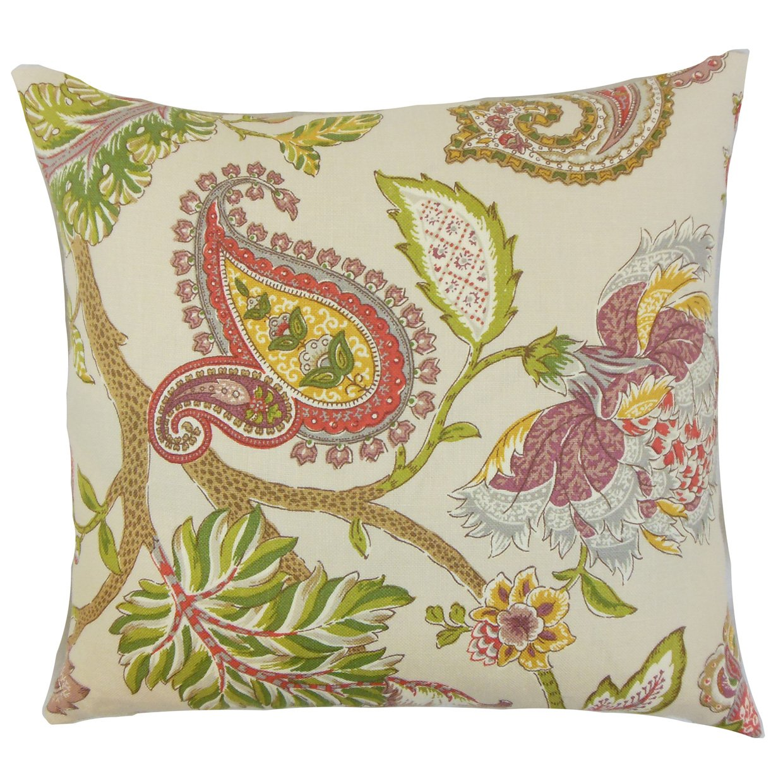 The枕コレクションp18-d-42465 – 254-springgreen-l100 Julitteフローラル枕、グリーン   B013WWNF90