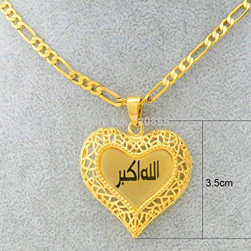 UsDeSiGn allah musulman arabic gold jewelry 22kIslamic necklace